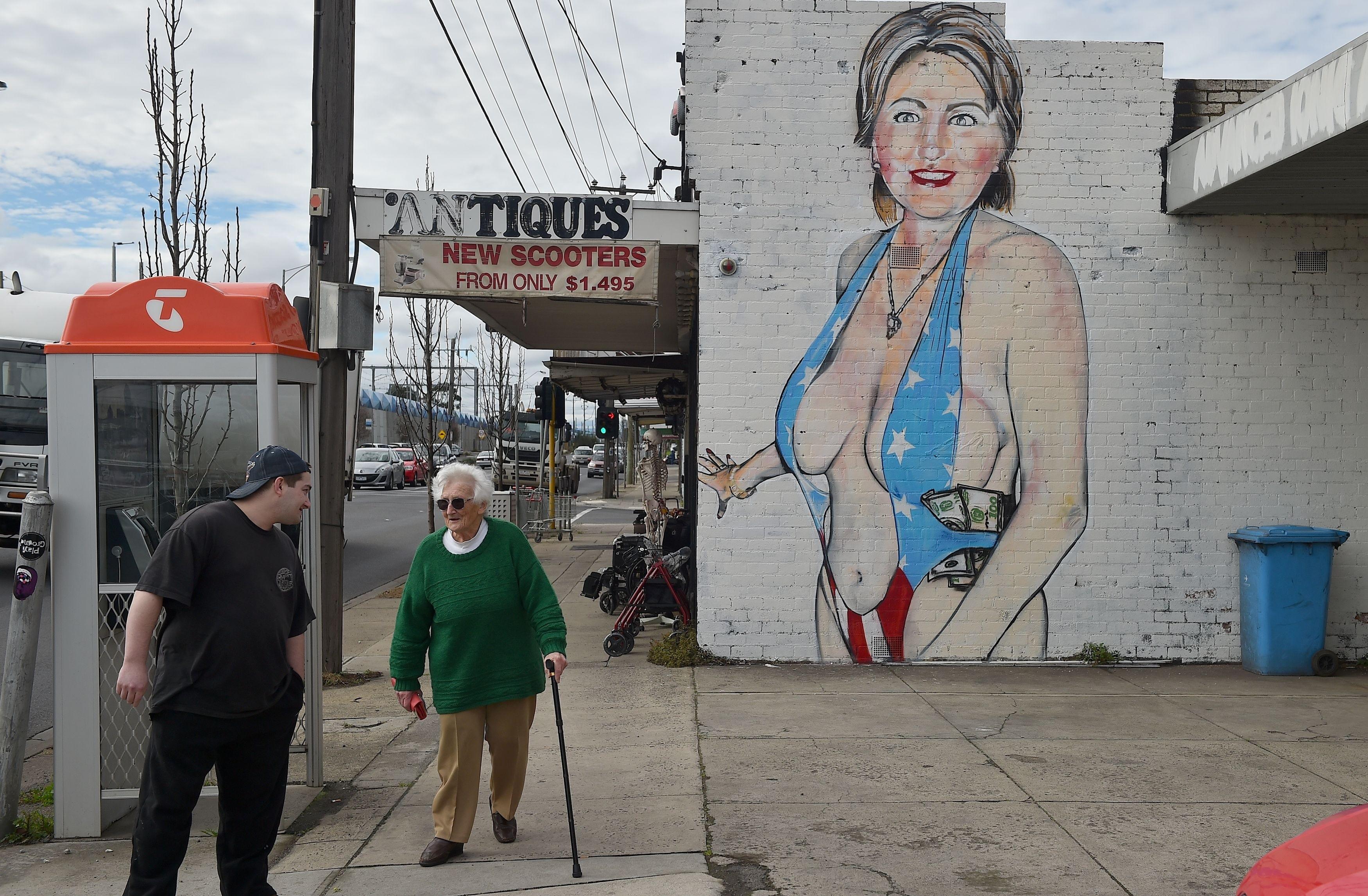 Clinton hillary fat woman in a bathing suit 5